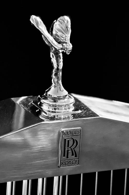 1986 Rolls-royce Art Print featuring the photograph 1986 Rolls-royce Hood Ornament 2 by Jill Reger