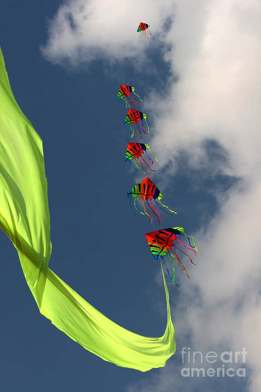 Kite Art Print featuring the photograph High Hopes by Angel Ciesniarska