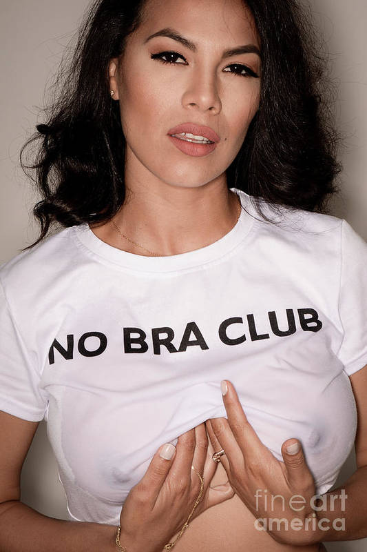 bf4b82e46d Attractive Art Print featuring the photograph No Bra Club by Jt PhotoDesign