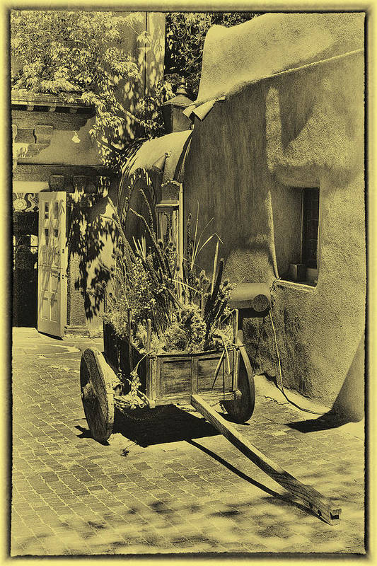 New Mexico Art Print featuring the photograph The Wooden Cart by David Patterson