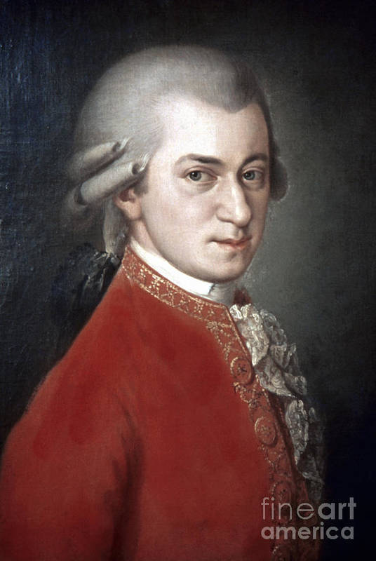 18th Century Art Print featuring the photograph Wolfgang Amadeus Mozart by Granger
