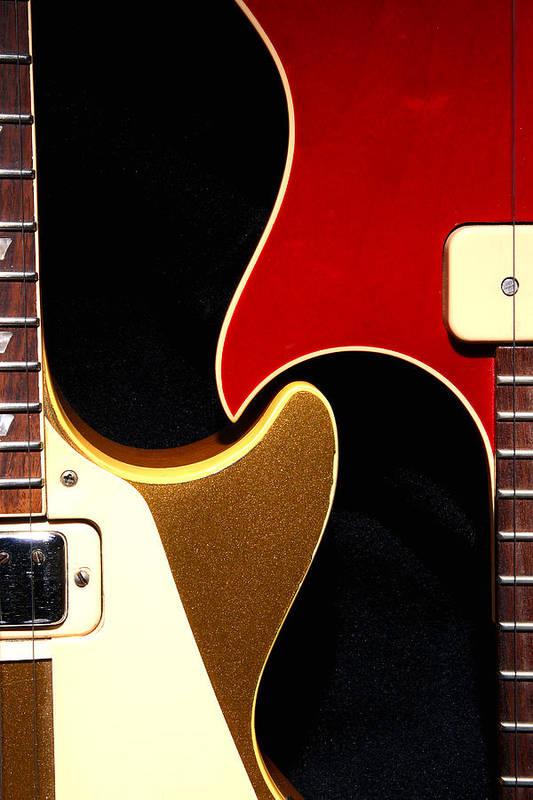 Guitar Art Print featuring the photograph 2lp 1 by Art Ferrier