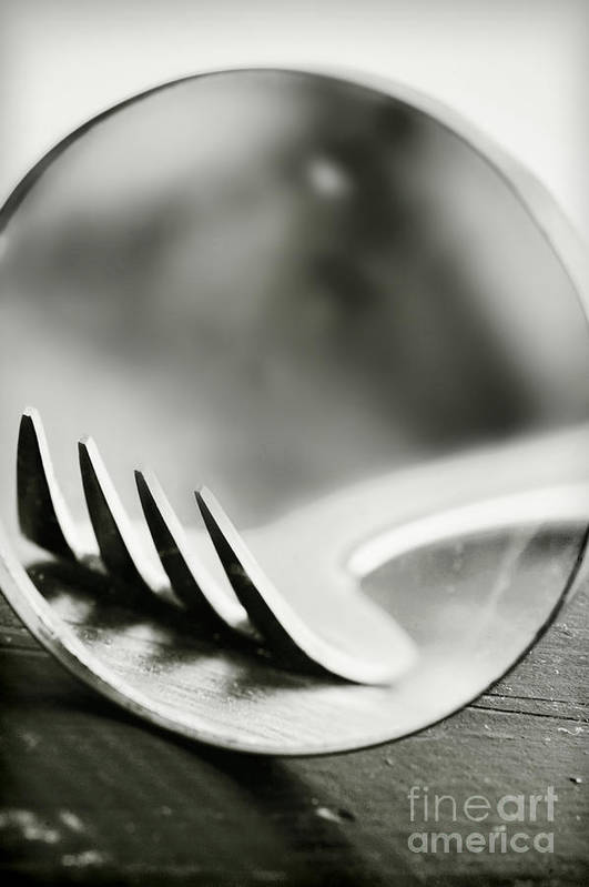 Fork Art Print featuring the photograph Fork by HD Connelly