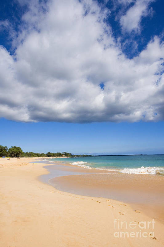 Afternoon Art Print featuring the photograph Makena Beach by Ron Dahlquist - Printscapes