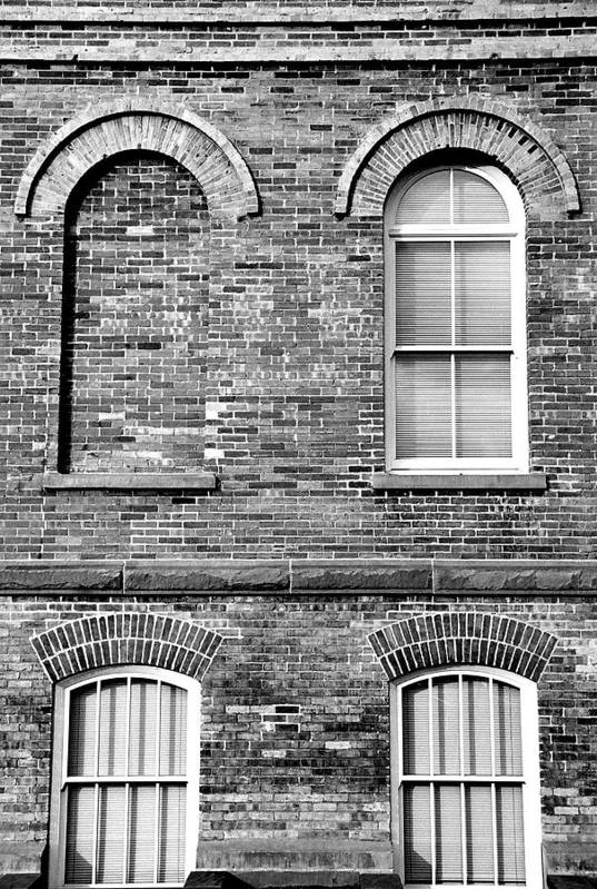 Architecture Art Print featuring the photograph 3 Quaters Black And White by Caroline Clark