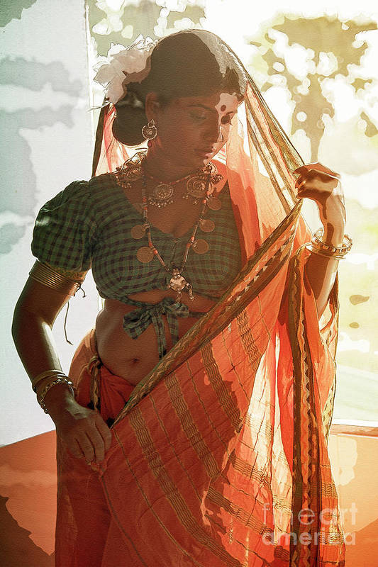 Tribe Art Print featuring the photograph Tribal Beauty Of India by Kiran Joshi