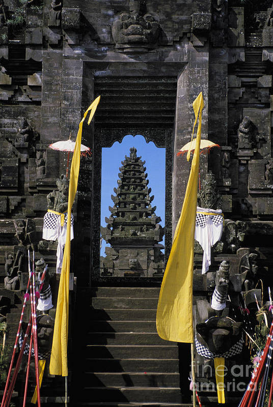 Ancient Art Print featuring the photograph Indonesia, Bali by Gloria & Richard Maschmeyer - Printscapes