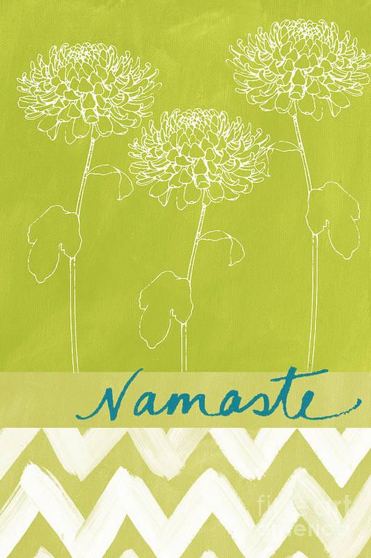 Namaste Art Print featuring the painting Namaste by Linda Woods