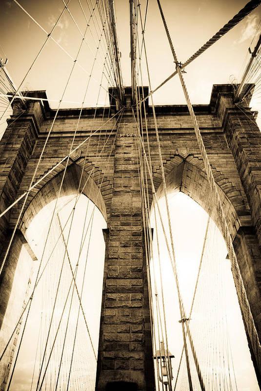 Bridge Art Print featuring the photograph Brooklyn Bridge by Patrick Flynn