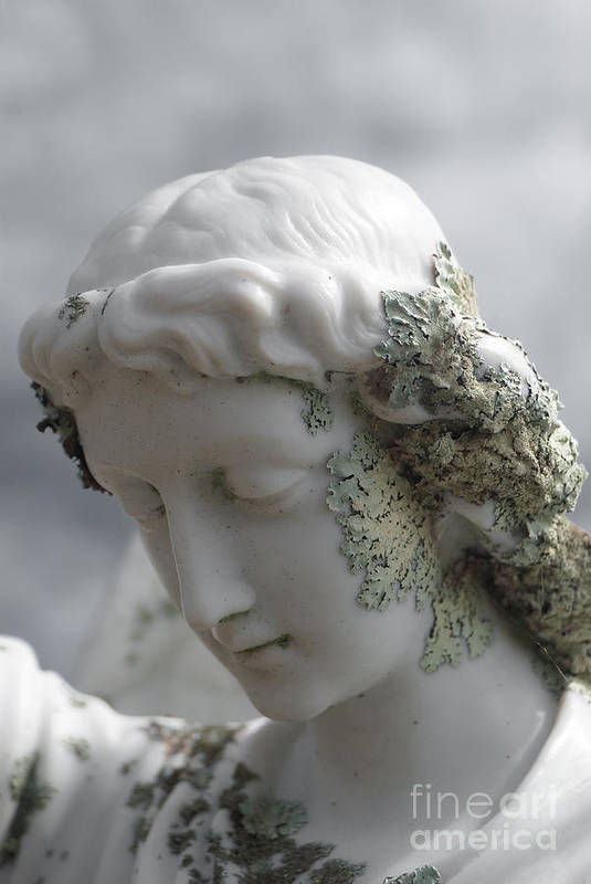 Angel Art Print featuring the sculpture Grieving Angel by Yurix Sardinelly