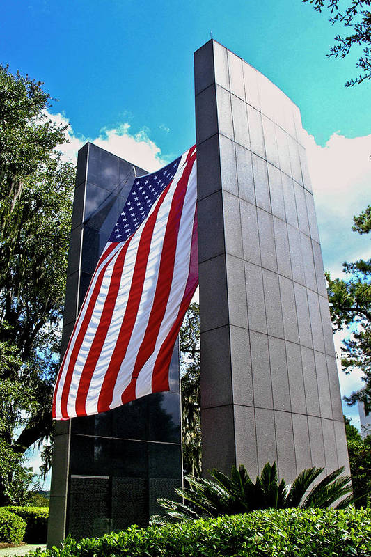 Color Photograph Art Print featuring the photograph Viet Nam Veteran's Memorial by Wayne Denmark