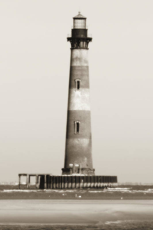 Morris Island Light Art Print featuring the photograph Morris Island Lighthouse by Dustin K Ryan