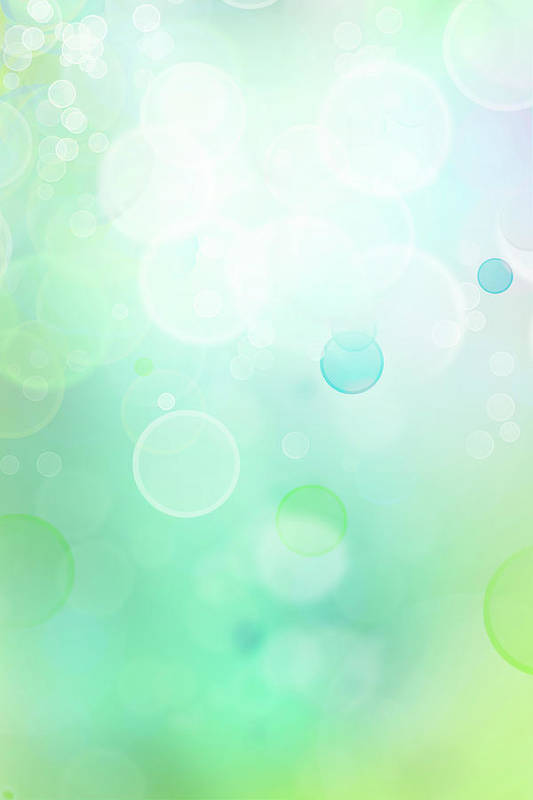Green Art Print featuring the digital art Abstract Background by Les Cunliffe