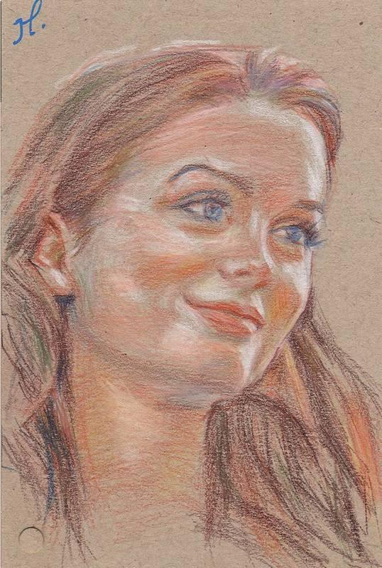 Portrait Art Print featuring the painting A Flair For Hair by Horacio Prada