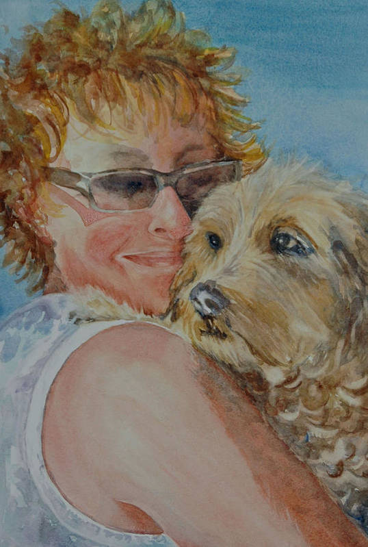 Dogs Art Print featuring the painting A Girl's Best Friend by Diane Fujimoto