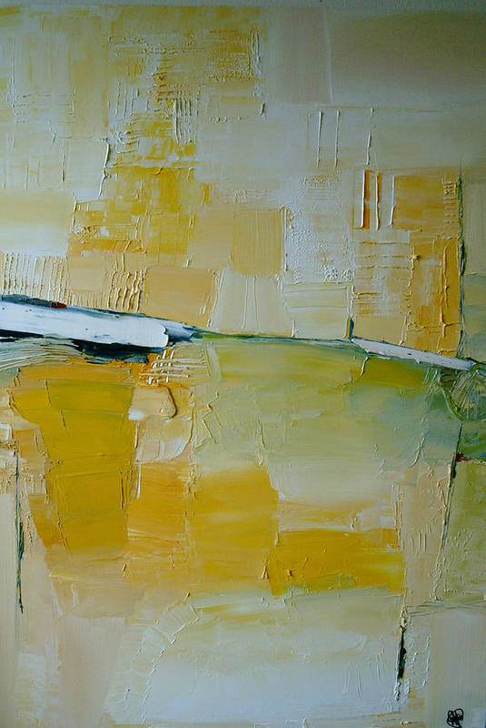 Abstract Art Print featuring the painting A Random Impression by Stefan Fiedorowicz