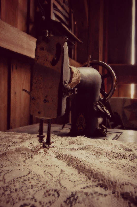 Sewing Machine Art Print featuring the photograph A Stitch In Time by Amy Schauland