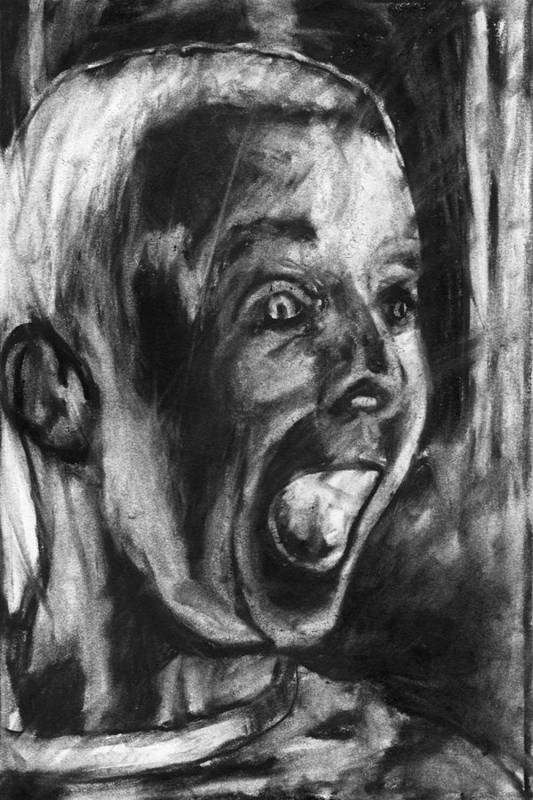 Child Art Print featuring the drawing A True Believer by John Terwilliger