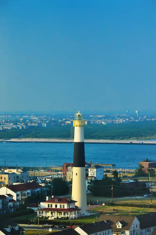 Absecon Art Print featuring the photograph Absecon Lighthouse Atlantic City by Bill Cannon