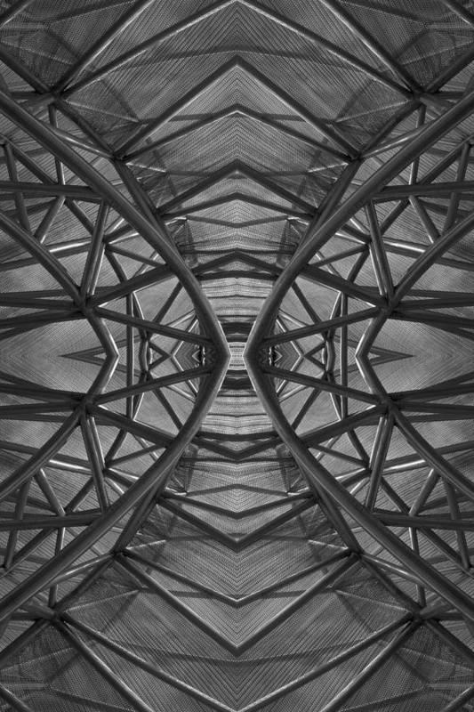 Abstract Art Print featuring the digital art Abstraction 1 by Robert Ullmann