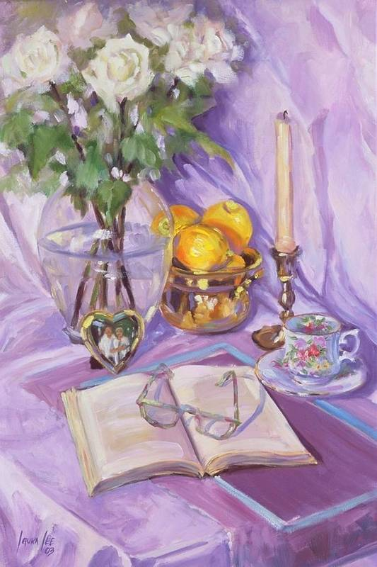 Still Life Art Print featuring the painting Afternoon Tea by Laura Lee Zanghetti