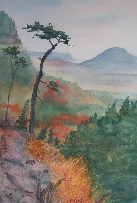 Early Morning Art Print featuring the painting Algoma Morning by Debbie Homewood