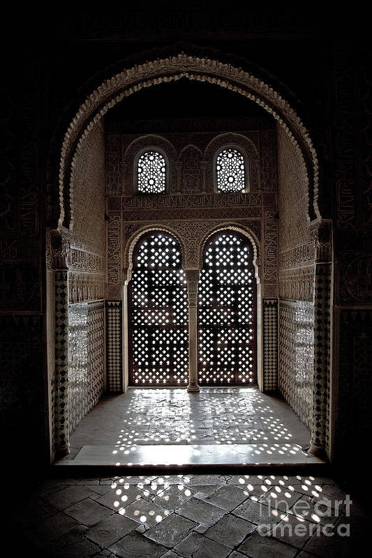 Alhambra Print featuring the photograph Alhambra Window by Jane Rix