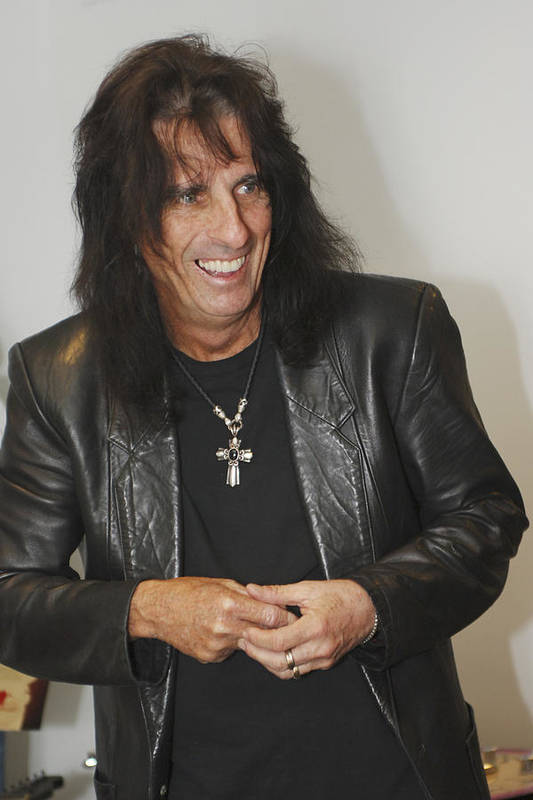 Alice Cooper Art Print featuring the photograph Alice Cooper Happy by Jill Reger