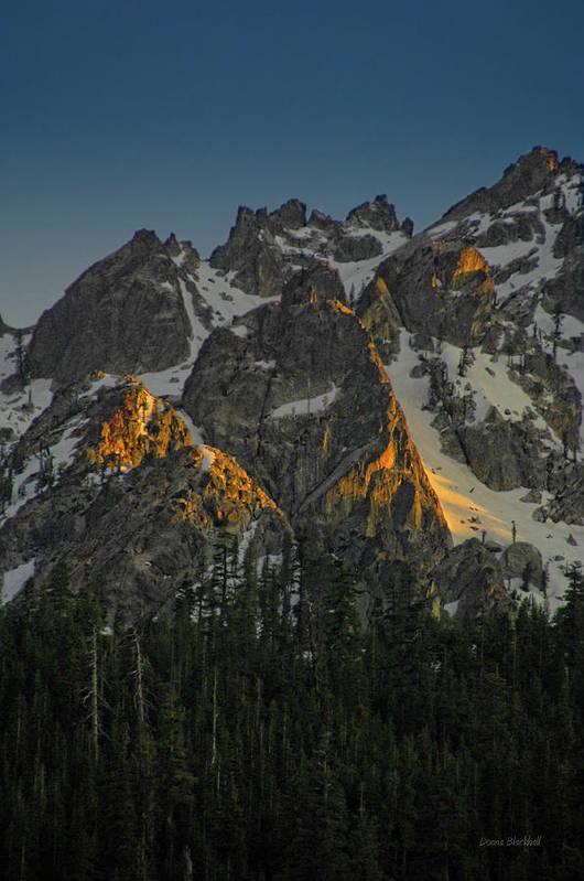 Mountan Art Print featuring the photograph Alpine Glow by Donna Blackhall
