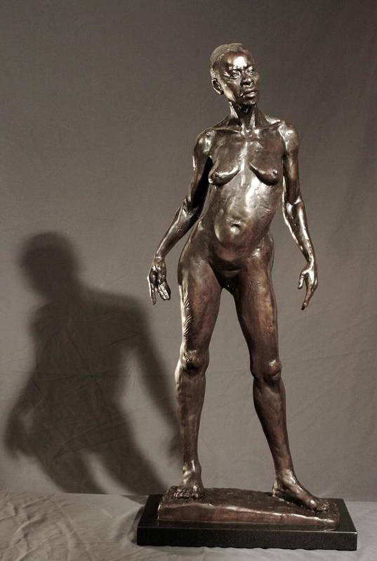 Bronze Sculpture Art Print featuring the sculpture Amazing Grace by Dan Earle