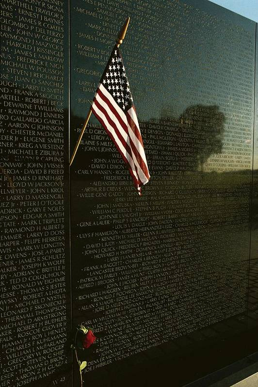 american National Flag Art Print featuring the photograph American Flag Left At The Vietnam by Medford Taylor