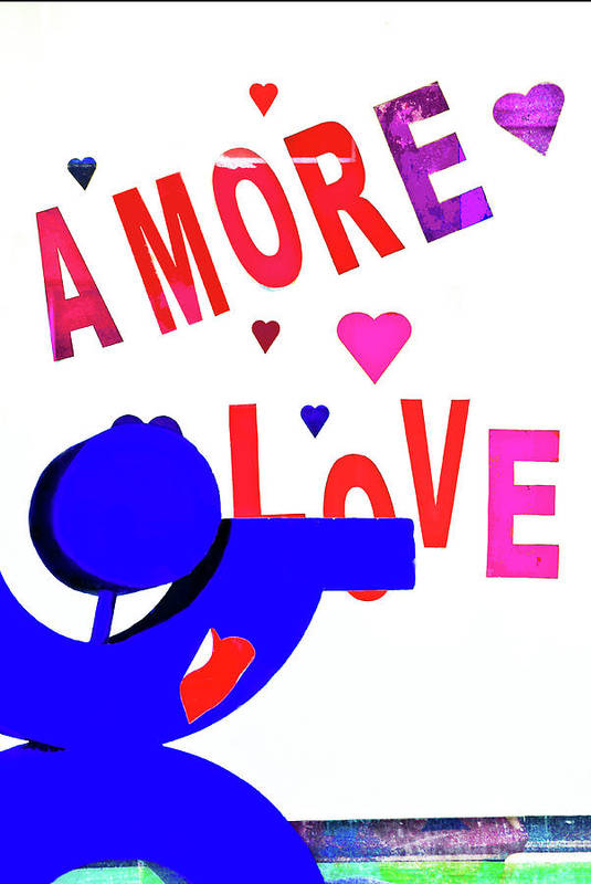 Amore Art Print featuring the photograph Amore Love by Frances Hattier