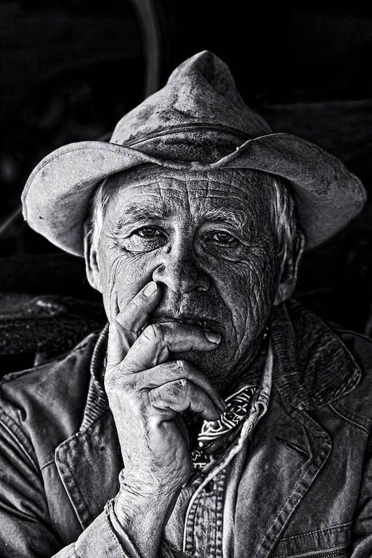 Portrait Print featuring the photograph An Honest Man by Ron McGinnis