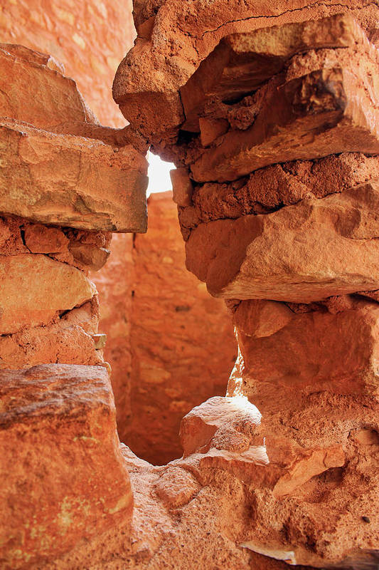 Cliff Dwellings Art Print featuring the photograph Anasazi Cliff Dwellings #8 by Lorraine Baum