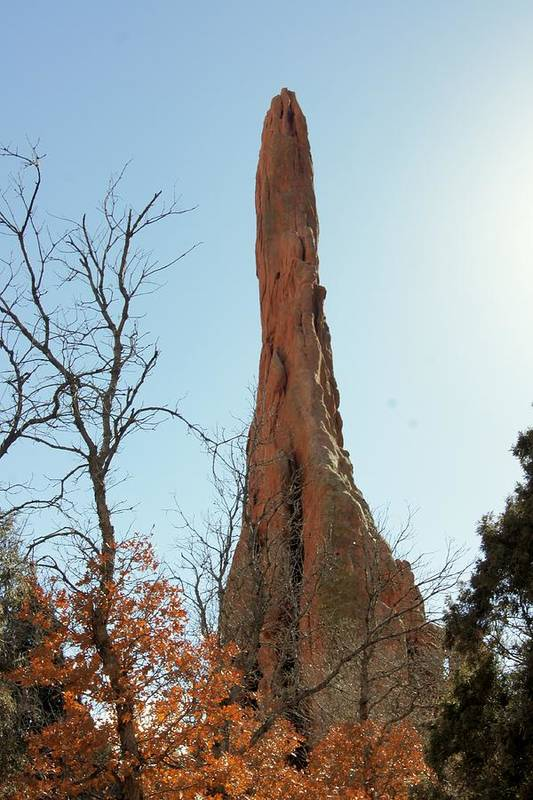 Garden Of The Gods Art Print featuring the photograph Ancient Pinnacle by Rhonda DePalma