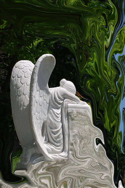 Angel Art Print featuring the photograph Angel by Patricia Motley