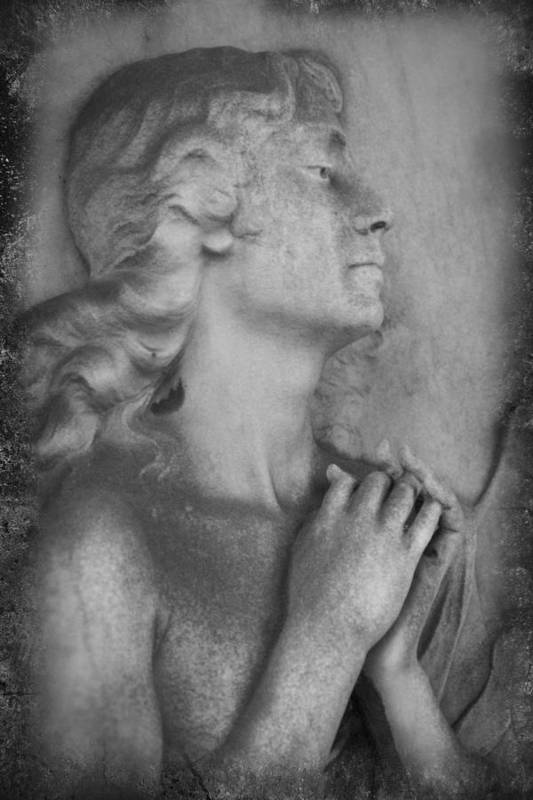 Prayer Art Print featuring the photograph Angel Praying by Carrie Kouri