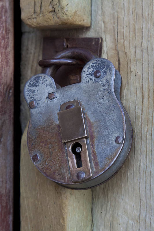 Accessibility Art Print featuring the photograph Antique Padlock 1 by John Brueske
