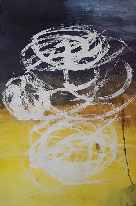 Learning Art Print featuring the painting Aprendiendo by Lauren Luna