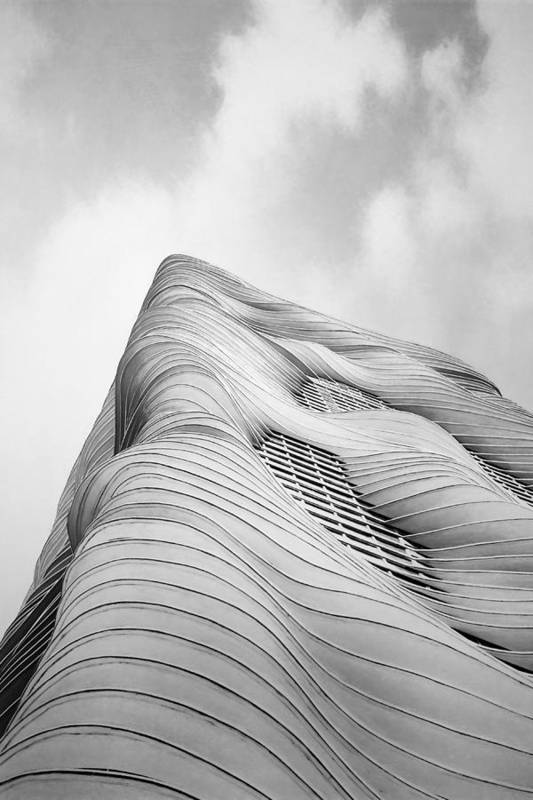 Architecture Art Print featuring the photograph Aqua Tower by Scott Norris