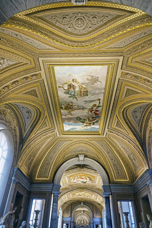 Vatican Art Print featuring the photograph Architectural Artistry Within The Vatican Museum In The Vatican City by Richard Rosenshein