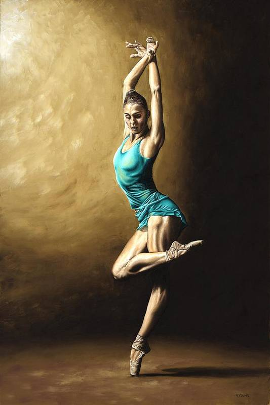Dance Art Print featuring the painting Ardent Dancer by Richard Young