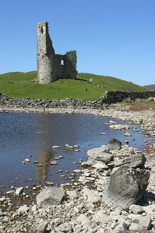 Ardvreck Art Print featuring the photograph Ardvreck Castle Scotland by Mike Bambridge
