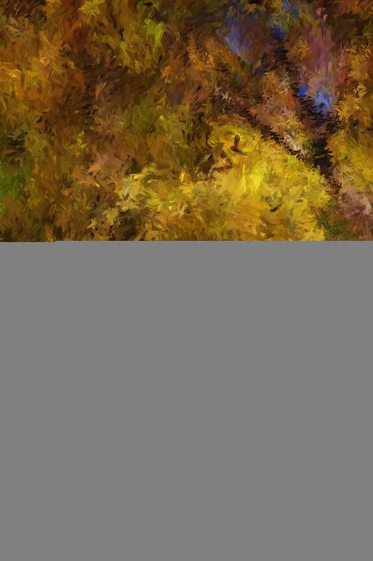 Abstract Digital Painting Art Print featuring the digital art Autumn Abstract by David Lane