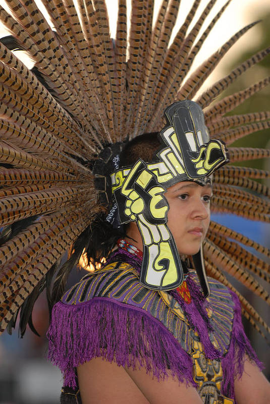 Dancer Art Print featuring the photograph Aztec Dancer by Dennis Hammer