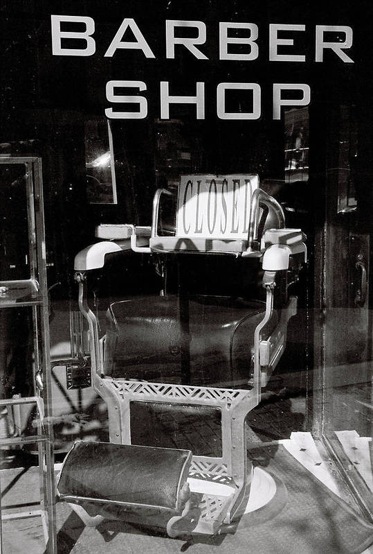 Window Art Print featuring the photograph Barber Shop Window by Filipe N Marques