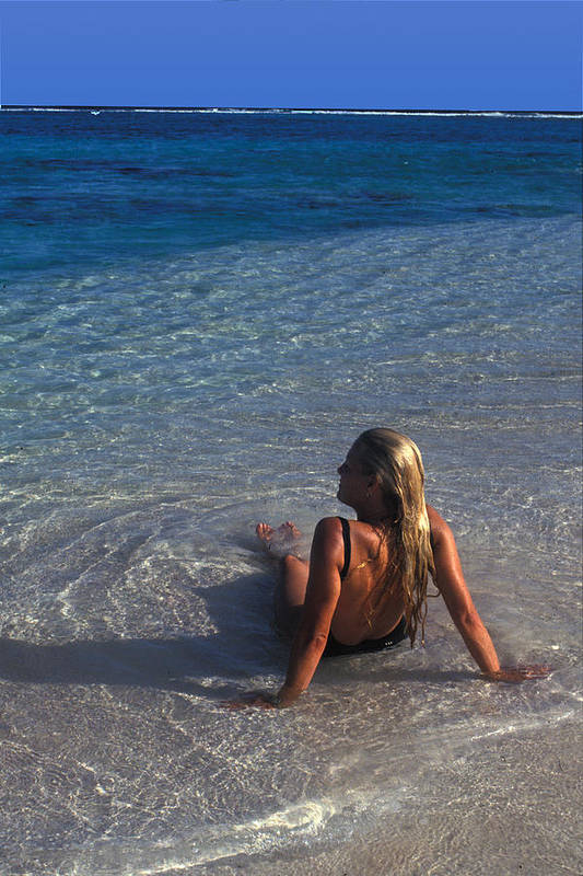 Beautiful Art Print featuring the photograph Beach At Little Cayman by Carl Purcell