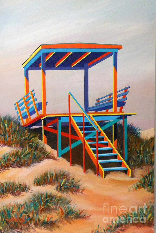 Landscape Art Print featuring the painting Beach Gate by Hugh Harris