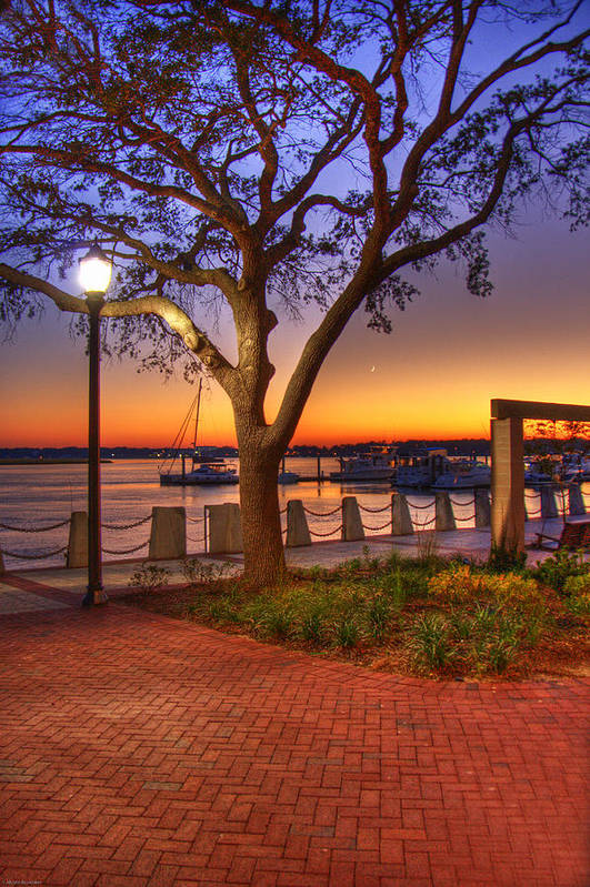 Park Art Print featuring the photograph Beaufort Waterfront by Ches Black