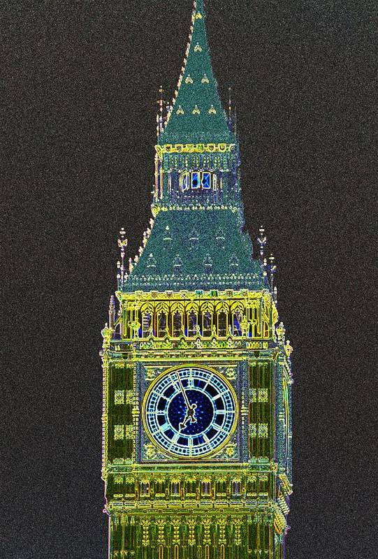 Big Ben Art Print featuring the photograph Big Ben Glowing by Charles Ridgway
